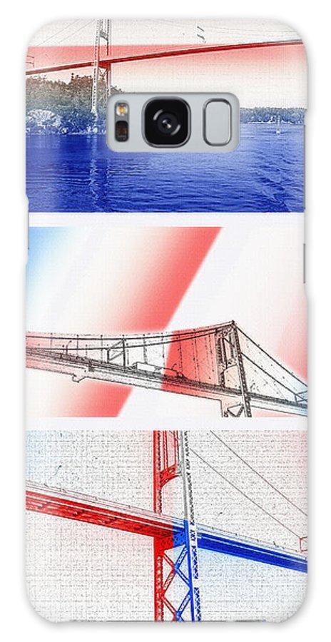Bridges Galaxy S8 Case featuring the photograph 1000 Island International Bridge Triptych by Steve Ohlsen