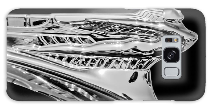 1946 Desoto Galaxy S8 Case featuring the photograph 1946 Desoto Hood Ornament -169bw by Jill Reger