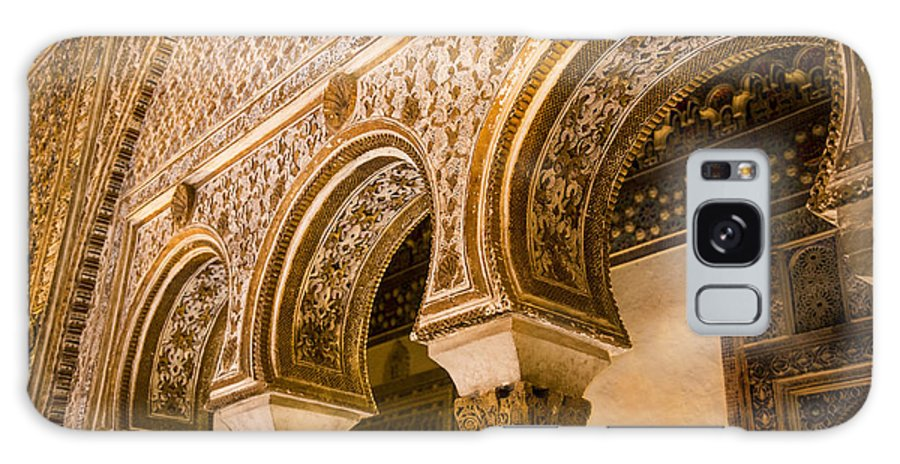 Alcazar Galaxy S8 Case featuring the photograph Alcazar Of Seville - Seville Spain by Jon Berghoff