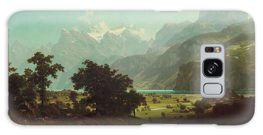 Albert Bierstadt Galaxy S8 Case featuring the painting Lake Lucerne by Albert Bierstadt