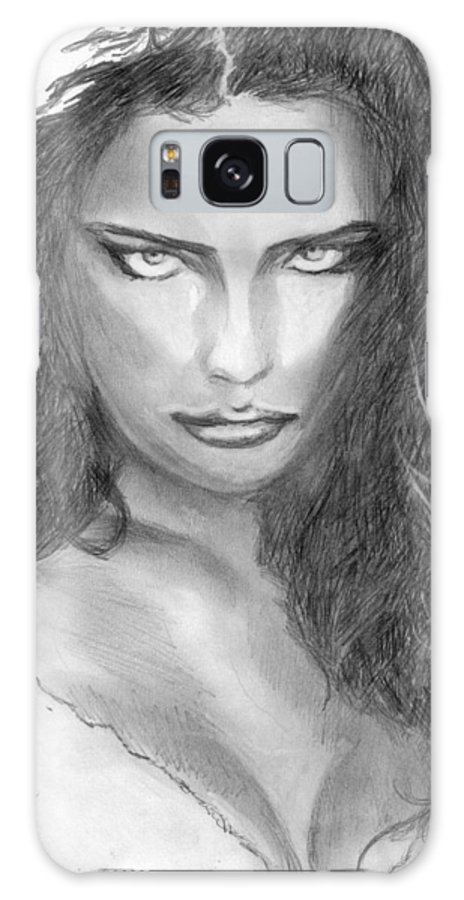 #adrianalima Galaxy S8 Case featuring the drawing Bad Side by Kristopher VonKaufman