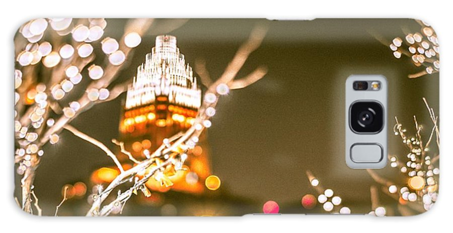 Charlotte Galaxy S8 Case featuring the photograph Christmas Lights Holiday Decorations Around Charlotte North Caro by Alex Grichenko