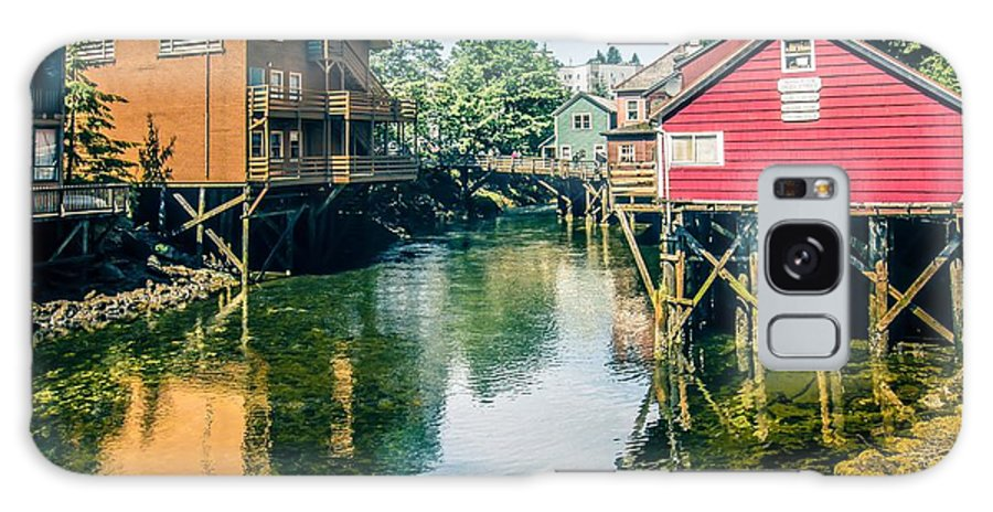 Downtown Galaxy S8 Case featuring the photograph ketchikan alaska downtown of a northern USA town by Alex Grichenko