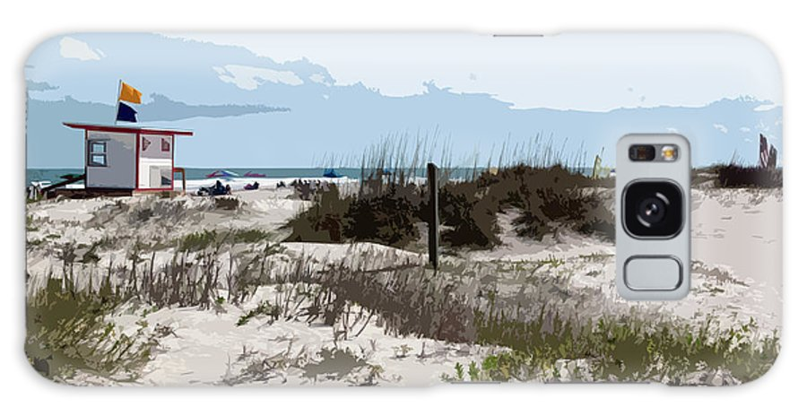 Florida Galaxy S8 Case featuring the painting Jetty Park On Cape Canaveral In Florida by Allan Hughes