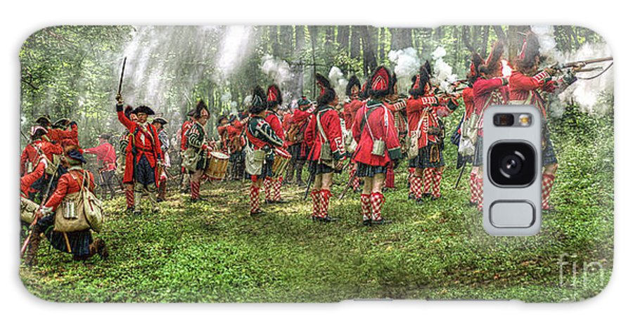Uniform Galaxy S8 Case featuring the digital art 1763 Battle Of Bushy Run Pennsylvania by Randy Steele