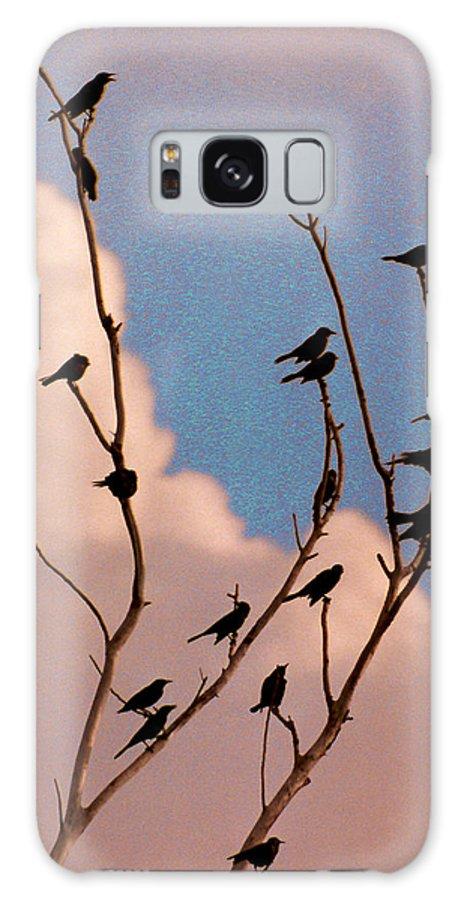 Birds Galaxy S8 Case featuring the photograph 19 Blackbirds by Steve Karol