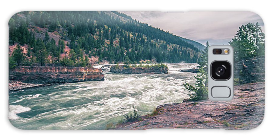 Falls Galaxy S8 Case featuring the photograph Kootenai River Water Falls In Montana Mountains by Alex Grichenko