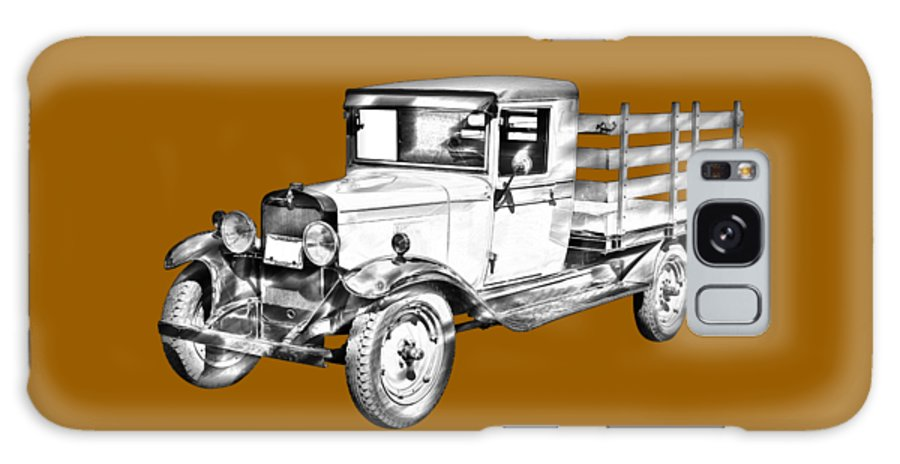 1929 Galaxy S8 Case featuring the photograph 1929 Chevy Truck 1 Ton Stake Body Drawing by Keith Webber Jr