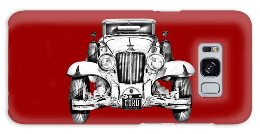 Vintage Galaxy S8 Case featuring the photograph 1929 Cord 6-29 Cabriolet Antique Car Illustration by Keith Webber Jr