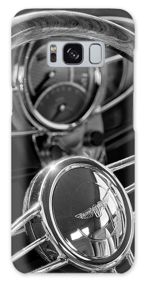 1932 Ford Galaxy S8 Case featuring the photograph 1932 Ford Hot Rod Steering Wheel 4 by Jill Reger