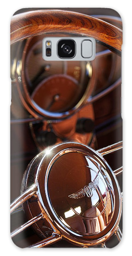 Car Galaxy S8 Case featuring the photograph 1932 Ford Hot Rod Steering Wheel by Jill Reger