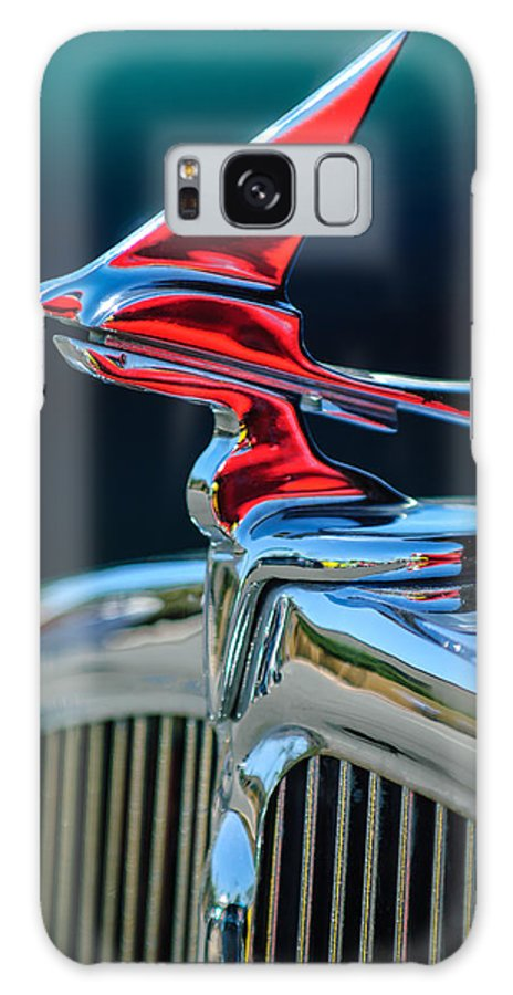 Car Galaxy S8 Case featuring the photograph 1933 Franklin Olympic Hood Ornament by Jill Reger