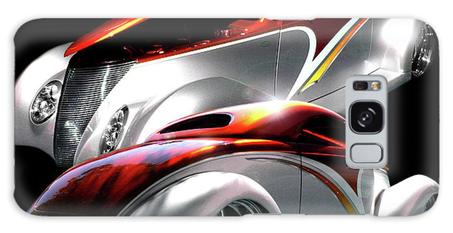 1937 Ford Coupe Galaxy S8 Case featuring the photograph 1936 Striped Coupe by Peter Piatt