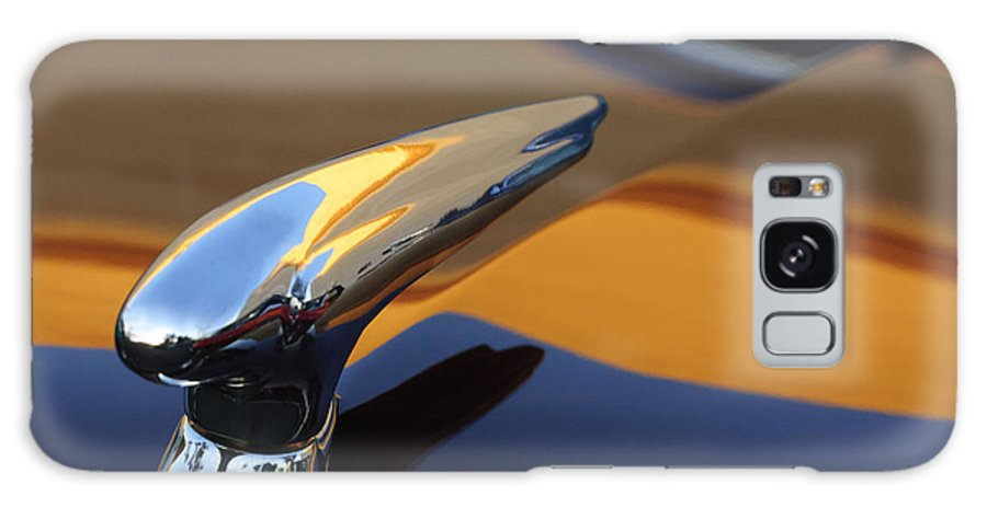 1937 Ford Galaxy S8 Case featuring the photograph 1937 Ford Hood Ornament 3 by Jill Reger