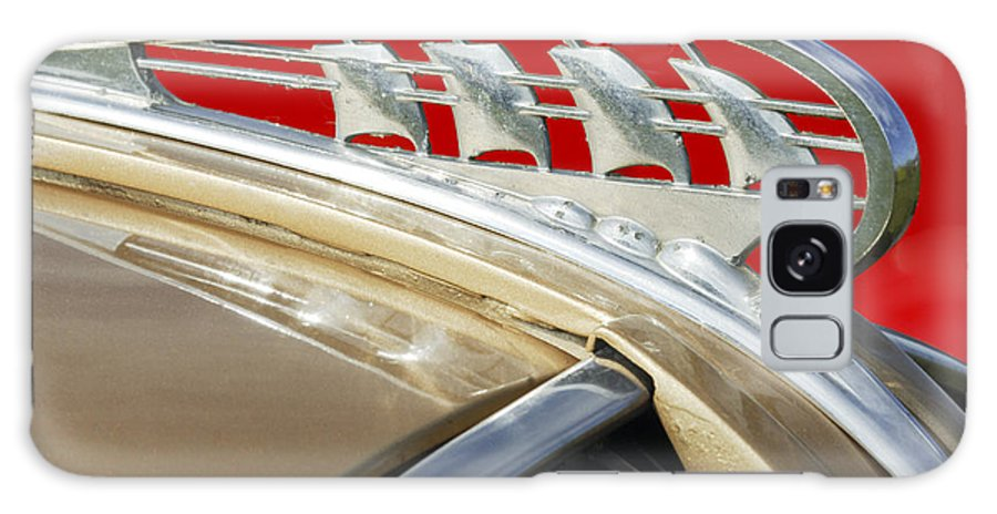 Car Galaxy S8 Case featuring the photograph 1938 Plymouth Hood Ornament by Jill Reger
