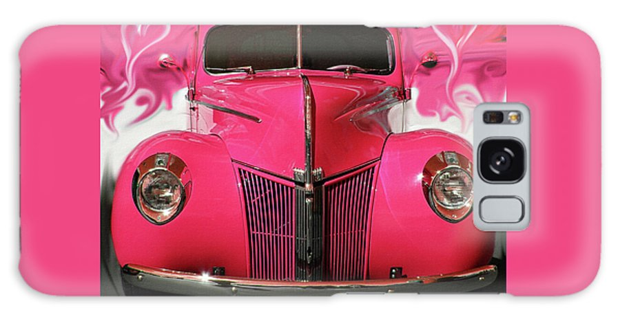 1940 Ford Galaxy S8 Case featuring the photograph 1940 Classic Hot Pink Ford by Patricia L Davidson