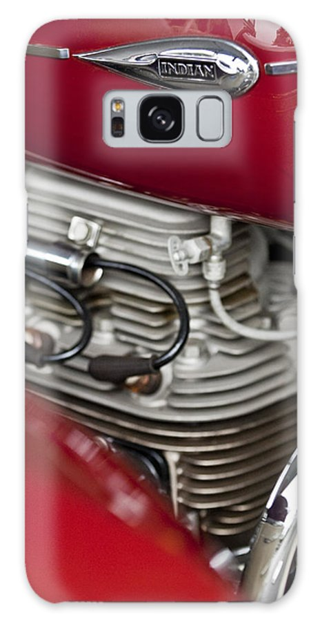 1941 Indian Galaxy S8 Case featuring the photograph 1941 Indian 4 Cyl Motorcycle by Jill Reger