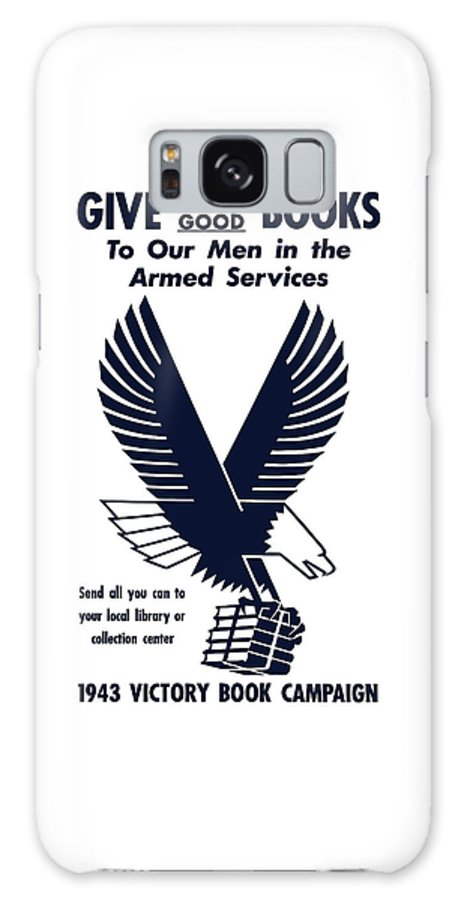 Ww2 Galaxy S8 Case featuring the mixed media 1943 Victory Book Campaign by War Is Hell Store