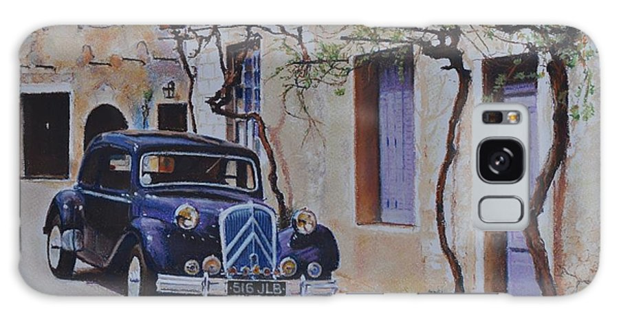 Classic Cars Galaxy Case featuring the painting 1951's Citroen by Iliyan Bozhanov