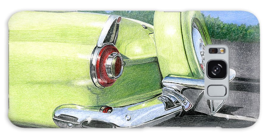 Classic Galaxy Case featuring the drawing 1956 Ford Thunderbird by Rob De Vries