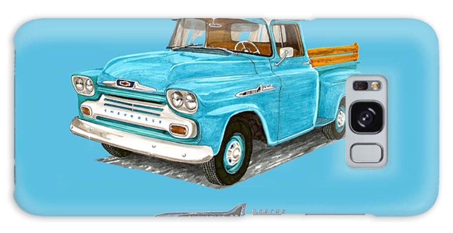 1958 Galaxy S8 Case featuring the painting Apache Pick Up Truck by Jack Pumphrey