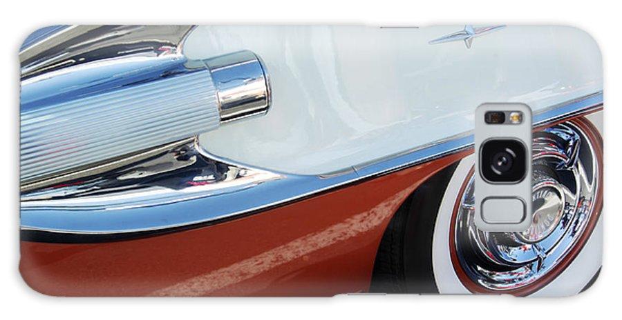 Car Galaxy S8 Case featuring the photograph 1958 Pontiac Bonneville Wheel by Jill Reger
