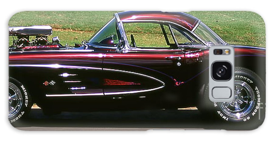 Vintage Cars Galaxy Case featuring the photograph 1960 Corvette by Jim Cazel