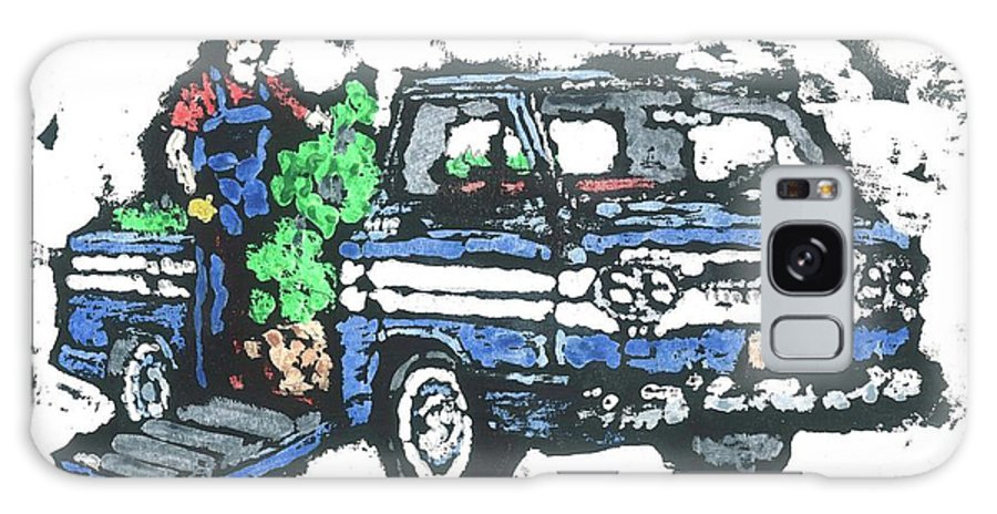 Corvair Galaxy S8 Case featuring the painting 1962 Corvan by Dick Gallagher