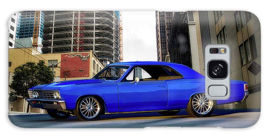 Automobile Galaxy S8 Case featuring the photograph 1967 Chevelle 'city-fied' Malibu by Dave Koontz