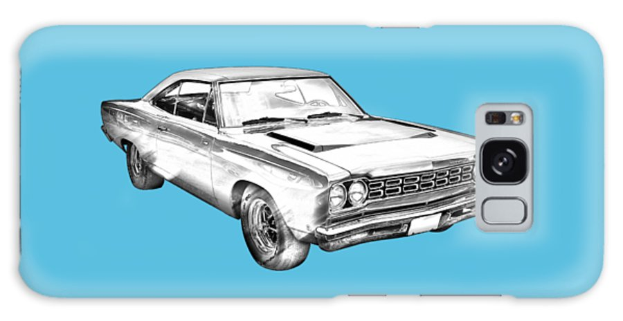 Car Galaxy S8 Case featuring the photograph 1968 Plymouth Roadrunner Muscle Car Illustration by Keith Webber Jr
