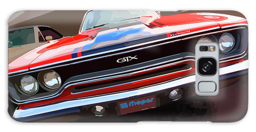 1970 Galaxy S8 Case featuring the digital art 1970 Plymouth Gtx Vectorized by Gordon Dean II