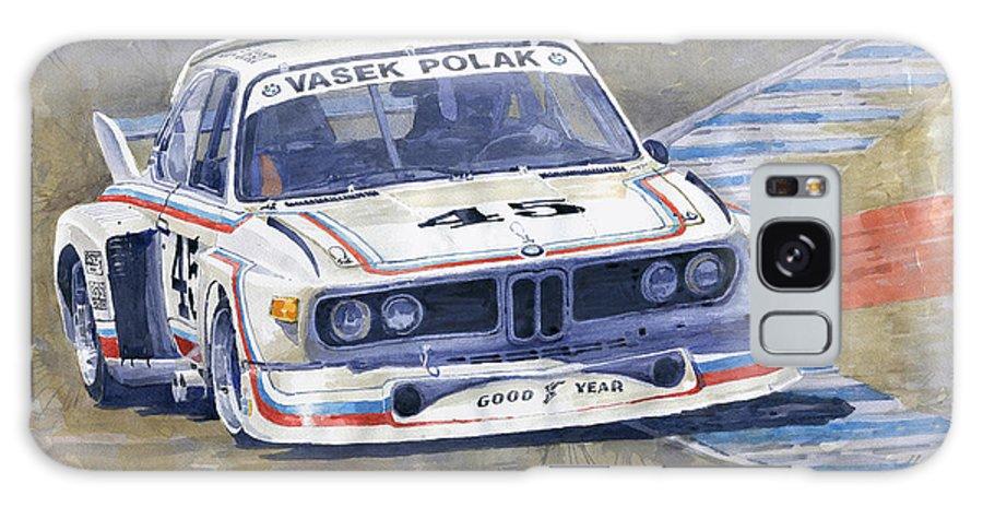 Shevchukart Galaxy S8 Case featuring the painting 1974 Bmw 3.5 Csl by Yuriy Shevchuk