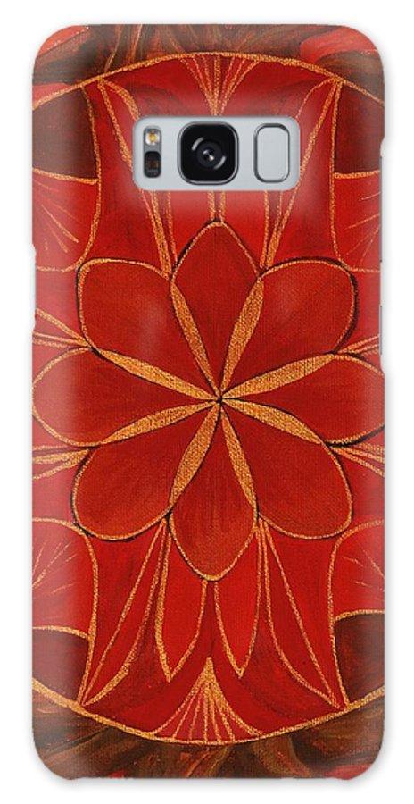 Mandala Galaxy S8 Case featuring the painting 1st Mandala - Root Chakra by Jennifer Christenson