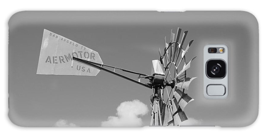 Black And White Galaxy S8 Case featuring the photograph Aermotor Windmill by Rob Hans