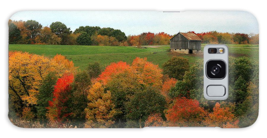 Affordable Galaxy S8 Case featuring the photograph Barn On Autumn Hillside A Seasonal Perspective Of A Quiet Farm Scene by Angela Rath