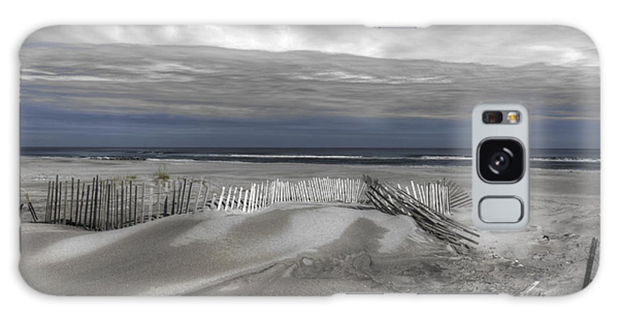 Landscape Galaxy S8 Case featuring the photograph Beach Fence by Mike Deutsch