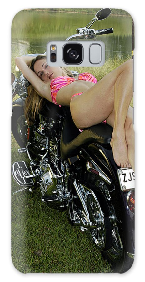Galaxy Case featuring the photograph Bikes And Babes by Clayton Bruster