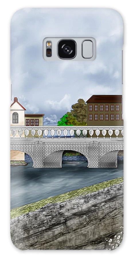 Galway Ireland Bridge Galaxy S8 Case featuring the painting Bridge In Old Galway Ireland by Anne Norskog