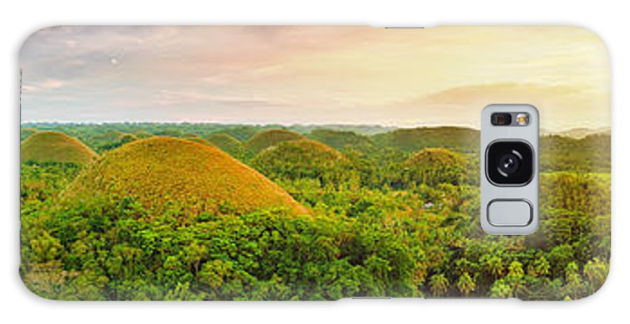 Panorama Galaxy S8 Case featuring the photograph Chocolate Hills by MotHaiBaPhoto Prints