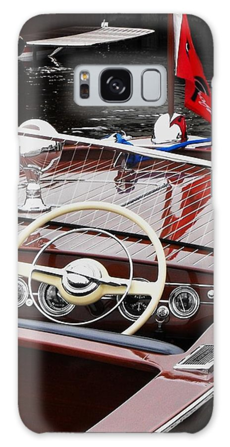 Chris Craft Galaxy S8 Case featuring the photograph Chris Craft Utility by Neil Zimmerman