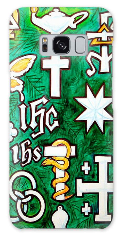 Chrismons Galaxy S8 Case featuring the painting Chrismons by Kevin Middleton