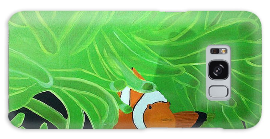 Seascape Galaxy S8 Case featuring the drawing Clownfish by Sherri Gill
