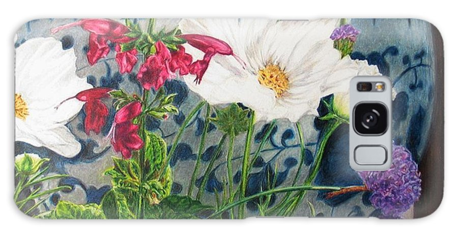 Flowers Galaxy S8 Case featuring the painting Cosmos by Karen Ilari