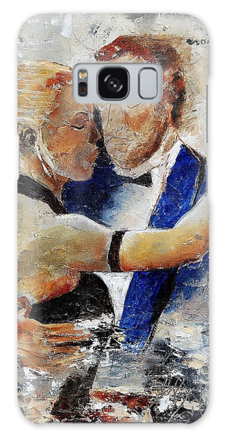 Dance Galaxy Case featuring the painting Dancing Tango by Pol Ledent