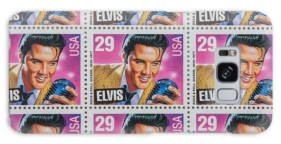 Elvis Stamp Galaxy S8 Case featuring the photograph Elvis Commemorative Stamp January 8th 1993 Painted by Rich Franco
