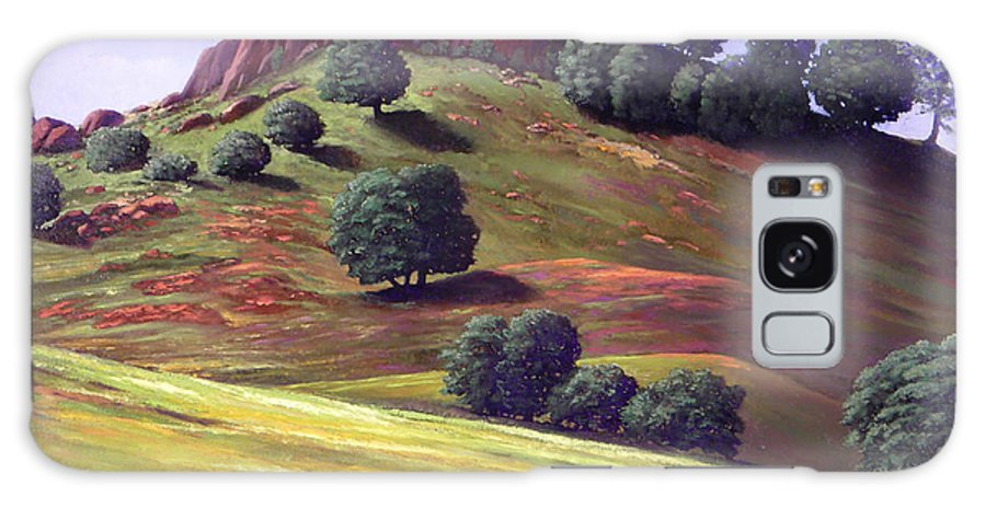 Landscape Galaxy S8 Case featuring the painting Flowering Meadow by Frank Wilson