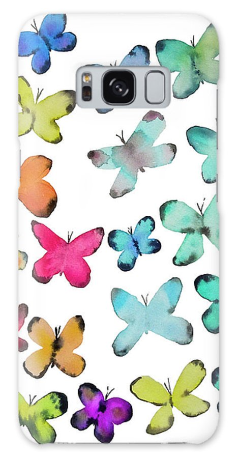 Watercolor Butterflies Galaxy S8 Case featuring the painting For A Friend by Roleen Senic