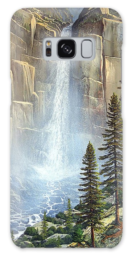 Great Falls Galaxy S8 Case featuring the painting Great Falls by Frank Wilson