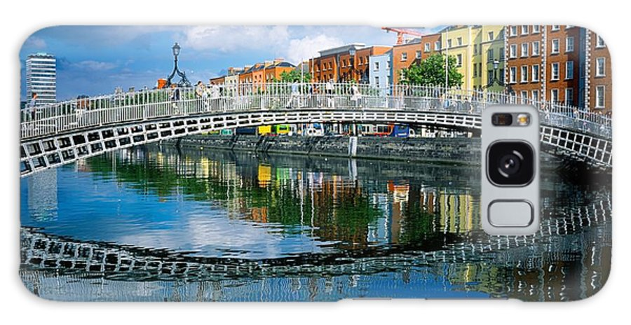 Dublin Galaxy S8 Case featuring the photograph Hapenny Bridge, River Liffey, Dublin by The Irish Image Collection