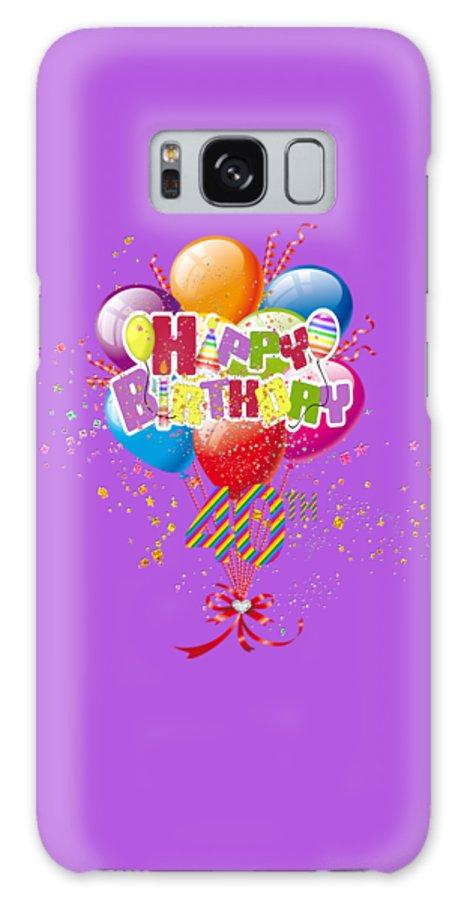 Happy 40th Birthday Galaxy S8 Case featuring the digital art Happy 40th Birthday by DMiller